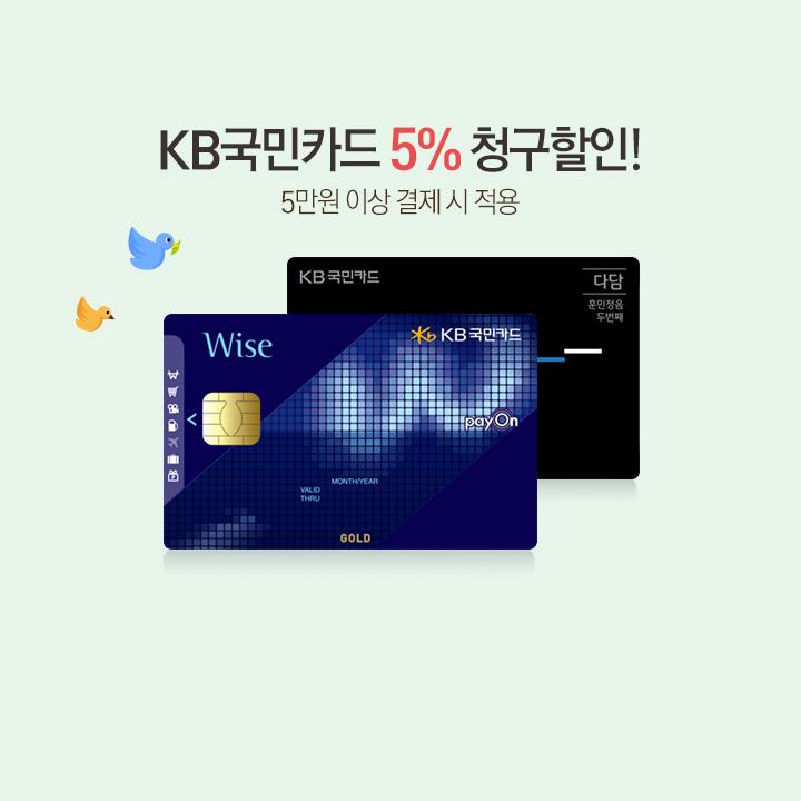 KB 국민카드 5% 청구할인+9개 카드 무이자