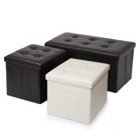 수납형 인테리어 스툴&벤치 3종세트_블랙(CN6864)