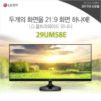 [LG] 모니터 29UM58E (29형 / IPS패널 / 21:9 / 2560 x 1080 / 1000:1 / 5ms)