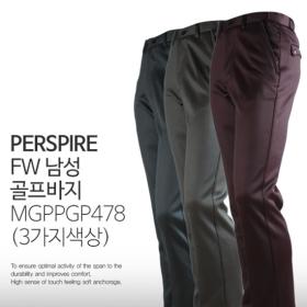 PERSPIRE 겨울 남성 나염 밴드 기모 골프 스판 바지 MG PPGP478 (3가지색상)