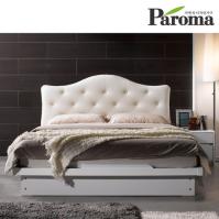 파로마 리디아 가죽 평상형 퀸(Q)침대(7존20T라텍폼스매트포함)