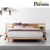파로마 시나몬 D형 평상형 퀸(Q)침대(본넬매트포함)