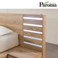 파로마 웰런 평상형 침대-LED 협탁만/슈퍼싱글(SS)/퀸(Q) 공용
