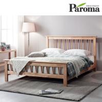파로마 벨리타 원목  퀸(Q)침대(본넬매트포함)
