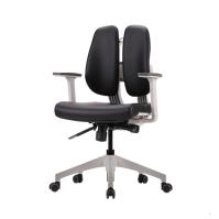 [듀오백2.0] D2-350W 화이트프레임 인조가죽 의자