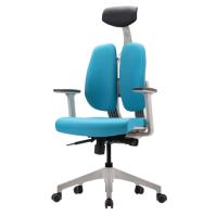 [듀오백2.0] D2-300W 화이트프레임 패브릭 의자