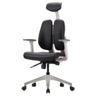 [듀오백2.0] D2-300W 화이트프레임 인조가죽 의자