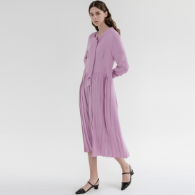 ADDSENSE 에드센스 TIE PLEATS ONE-PIECE_PURPLE