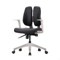 [듀오백2.0] D2-350ZW 화이트프레임 인조가죽 의자