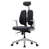 [듀오백2.0] D2-300ZW 화이트프레임 패브릭 의자
