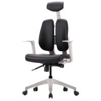 [듀오백2.0] D2-300ZW 화이트프레임 인조가죽 의자