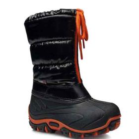 브레산 8590 BLACK-ORANGE 이태리 아동 겨울 방한 패딩 스노우 부츠