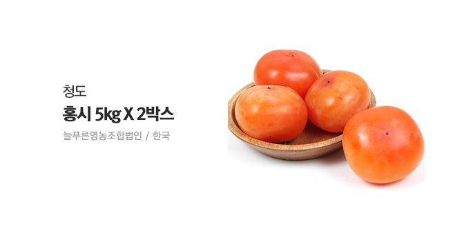 [기습초특가] 청도 홍시 5kg X 2박스(총 62~80과)