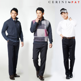 (Cerini by PAT) TV방송 HIT상품! 남성 릴렉스 본딩 팬츠 3종세트