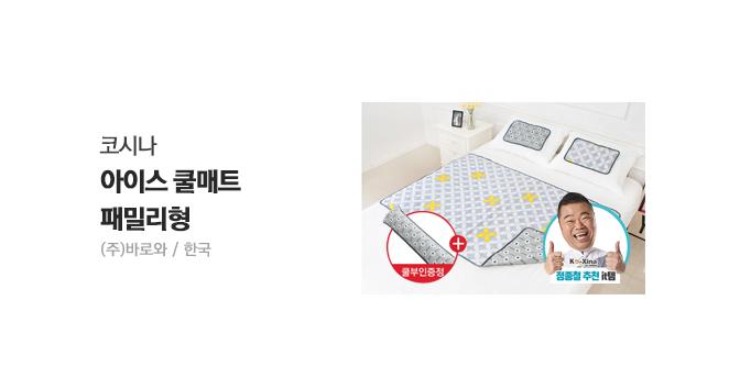 [정종철 추천]코시나 아이스쿨매트(패밀리)+베개2+쿨부인1
