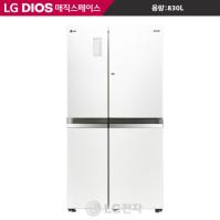 LG DIOS 양문형냉장고 R-S834PBSW (샤이니화이트/매직디스플레이/이지핸들)