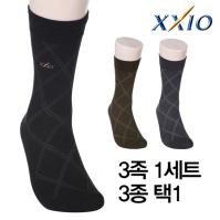 [던롭스포츠코리아](3족세트)젝시오 XXIO 남성 장목 스포츠/캐주얼양말 3종택1/골프용품