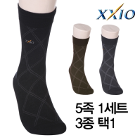 [던롭스포츠코리아] (5족세트)젝시오 XXIO 남성 장목 스포츠/캐주얼양말 3종택1/골프용품