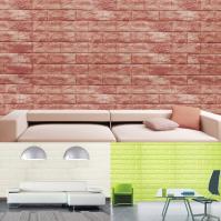 [이오스트]인테리어 단열폼블럭 벽돌 화이트(1mx2.4m)