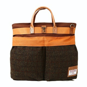 [디얼스] HARRIS TWEED HELMETBAG - BROWN
