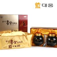 대웅 6년근 홍삼 진액고 선물세트 500g 2병 - 선물용보자기 포함