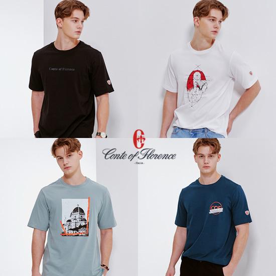 꼰떼오브플로렌스 남성용 그래픽 티셔츠 4종
