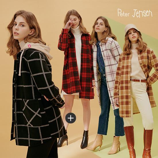 (재킷 2종 최신상)피터젠슨 여성 체크 본딩자켓 2종 세트상품이미지