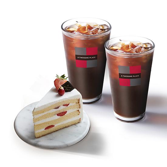 [정상가 13600원]투썸플레이스 딸기 생크림+아메리카노(R) 2잔